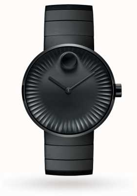 Movado Herrenranduhr aus schwarz ionenplattiertem Stahl 3680007