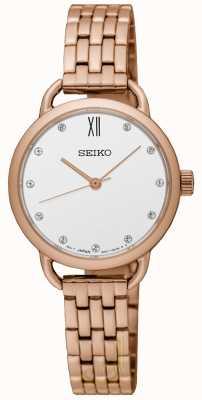 Seiko Damen Retrostie Armband aus Roségold SUR698P1