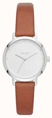 DKNY Womens der moderne Uhr braun Lederarmband NY2676