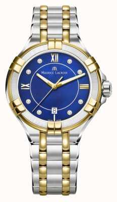 Maurice Lacroix Womens aikon 35mm zweifarbiger Edelstahl blau-blau AI1006-PVY13-470-1