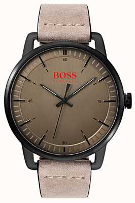 Hugo Boss Orange Stockholm Herren Wildlederarmband schwarz ip plattiert 1550073