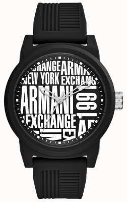 Armani Exchange Herren atlc | schwarzes Silikonarmband | AX1443
