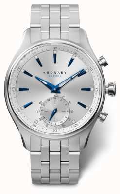 Kronaby 41mm sekel silber zifferblatt edelstahl armband a1000-3121 S3121/1