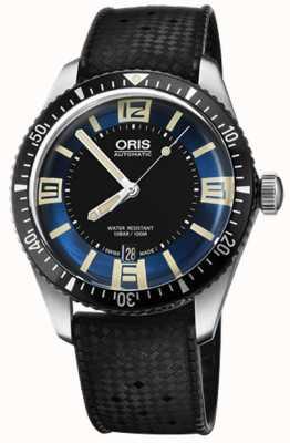 Oris Divers fünfundsechzig automatische Gummiband blaues Zifferblatt 01 733 7707 4035-07 4 20 18