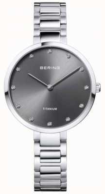 Bering Gehäuse und Armband aus Kristallguss mit Titangrau 11334-772