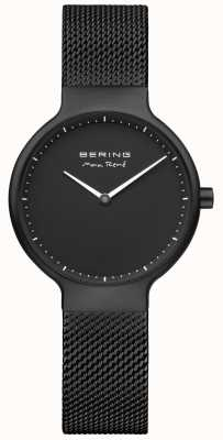 Bering Max René schwarz matt Zifferblatt und schwarz IP-beschichtetes Mesh-Armband 15531-123