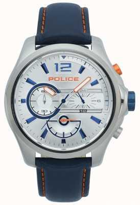 Police Herren Denver Chronograph Edelstahlgehäuse Lederband 15403JS/04
