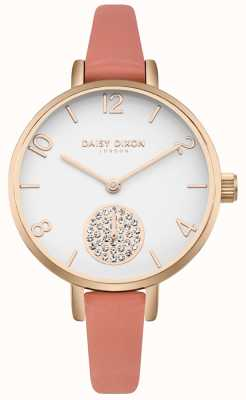 Daisy Dixon Frauen Alice Kristall Set Subdial rosa Lederband DD0750RG