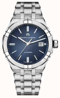 Maurice Lacroix Aikon automatische 42mm Edelstahl blau Zifferblatt Uhr AI6008-SS002-430-1
