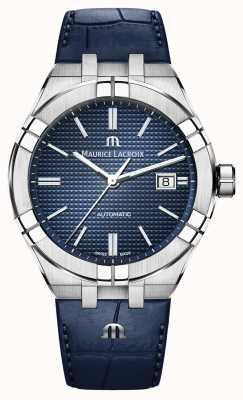 Maurice Lacroix Aikon automatische blaue Zifferblatt blaue Lederuhr AI6008-SS001-430-1