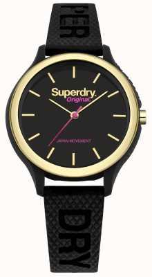 Superdry Sapporo Fluoro Pop schwarz Silikonband SYL151BG