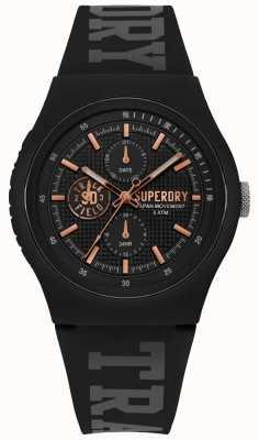 Superdry Urban XL schwarz Silikonband SYG188BRG