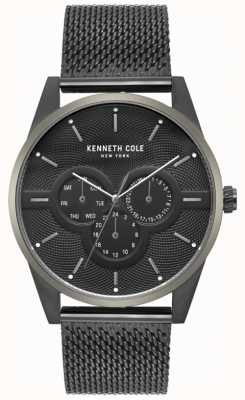 Kenneth Cole Mens Multi Dial schwarz Mesh Armband Uhr KC15205005
