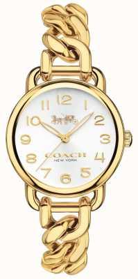 Coach Damen Delancey vergoldete Uhr 14502801