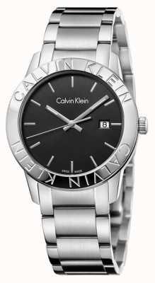 Calvin Klein Steady Edelstahl schwarzes Zifferblatt K7Q21141