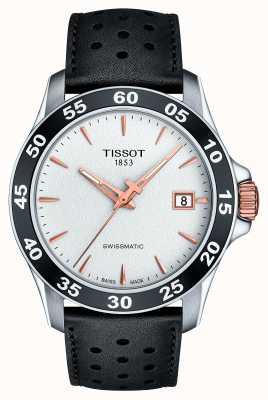 Tissot Herren v8 swissmatic T-Sport schwarzes Lederarmband T1064072603100