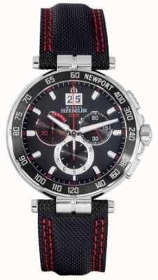 Michel Herbelin Newport Chronograph rotes und schwarzes Zifferblatt 36656/AN44
