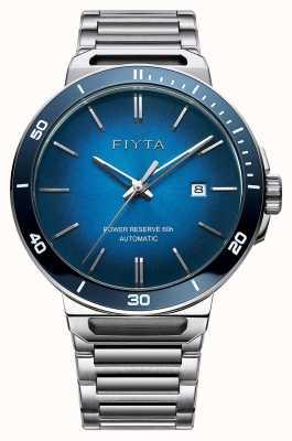 FIYTA Solo automatische Edelstahl blauen Zifferblatt Saphir GA852001.WLW