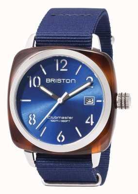 Briston Blauer Gurt der Clubmaster Sportikonen 17142.SA.TS.9.NNB