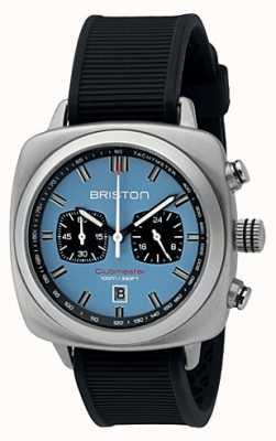Briston Clubmaster Sport schwarz Gummi hellblau mattes Zifferblatt 16142.S.SP.18.RB