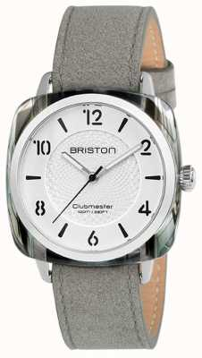 Briston Clubmaster Damen schickes graues Armband weißes Zifferblatt 18536.SA.GRE.2G.LNG