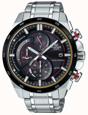 Casio Mens Gebäude 3d Chronograph solarbetriebene Uhr EQS-600DB-1A4UEF