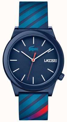 Lacoste Unisex Bewegungsuhr blaues Kautschukarmband 2010934