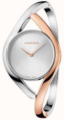 Calvin Klein Damen Party zweifarbig Roségold Edelstahl Uhr K8U2SB16