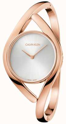 Calvin Klein Damen-Party-Roségold-Edelstahluhr K8U2M616