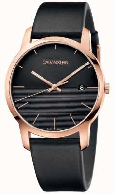 Calvin Klein Herrenuhr aus roségoldfarbenem Leder K2G2G6CZ