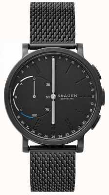 Skagen Hagen verbunden Smart Uhr schwarz Mesh Armband schwarzes Zifferblatt SKT1109