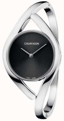 Calvin Klein Damenarmbanduhr schwarzes Zifferblatt K8U2M111