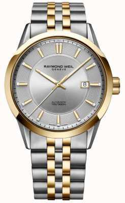 Raymond Weil Mens Freiberufler automatische zweifarbige Armband silbernes Zifferblatt 2731-STP-65001