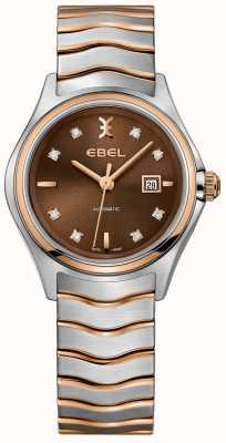 EBEL Automatisches Diamant-Datumsanzeige-Haselnusszifferblatt der Frauen 1216265