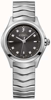 EBEL Damen Diamant Anthrazit Zifferblatt Edelstahl Armband 1216316