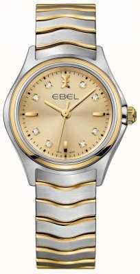 EBEL Frauen Diamant Champagner Zifferblatt zweifarbig Gelbgold und Silber 1216317