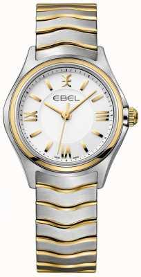 EBEL Frauenwelle weißes Zifferblatt zweifarbiges Armband aus Gold und Silber 1216375