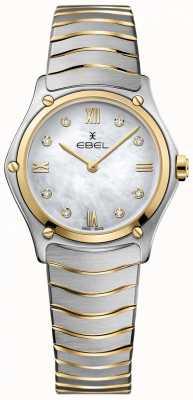 EBEL Damen Sport klassisches Diamant Perlmutt Zifferblatt zweifarbig 1216388
