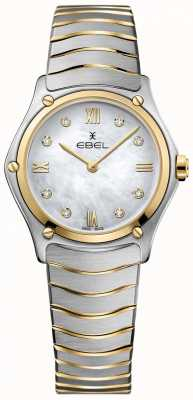 EBEL Damen Sport klassischer Diamant Perlmutt Zifferblatt zweifarbig 1216388A