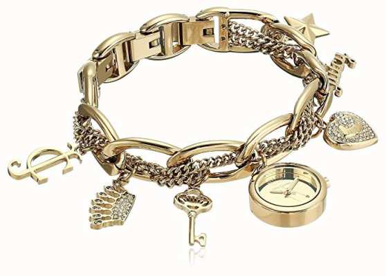 Juicy Couture Armbanduhr aus vergoldetem Edelstahl für Damen JC-1040GPCH