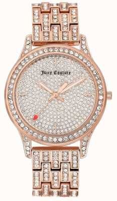 Juicy Couture Roségoldfarbene Armbanduhr für Damen JC-1044PVRG