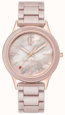 Juicy Couture Analoge Armbanduhr aus plattiertem Stahl JC-1048TPRG