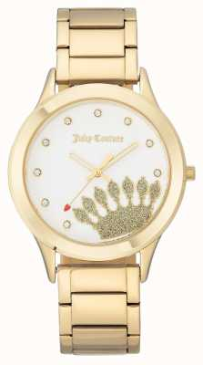 Juicy Couture Goldfarbenes Damen Zifferblatt und Armband JC-1052WTGB