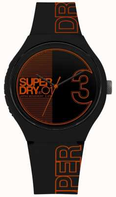 Superdry Urban xl fusion matt schwarz orange Druck SYG239BO