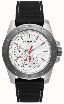 Police Urban Style schwarzes Silikonband silbernes Zifferblatt PL.15527JSTU/04P