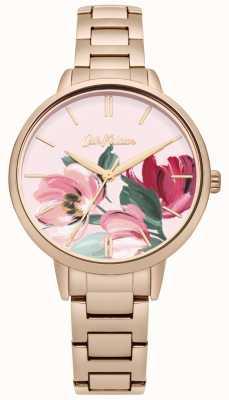 Cath Kidston Damenarmband in Roségold mit floralem Aufdruck CKL050RGM