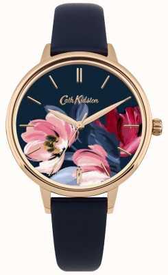 Cath Kidston Damenarmbanduhr mit floralem Zifferblatt CKL050URG