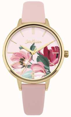 Cath Kidston Damenarmbanduhr in pink mit floralem Zifferblatt CKL050PG