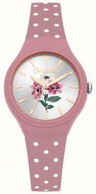 Cath Kidston Anemone-Blumenstrauß rosa Silikonbanduhr der Frauen CKL066P
