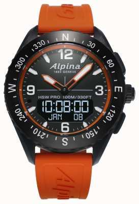 Alpina Alpinerx Smartwatch orange Kautschukband AL-283LBO5AQ6